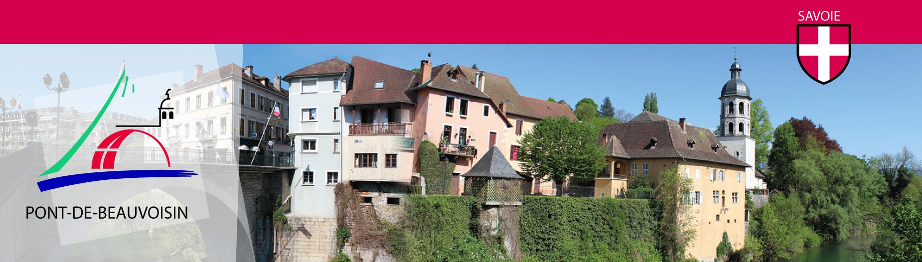 En-tête du site - Bienvenue au Pont-de-Beauvoisin - Site internet de la commune - Savoie, 73330
